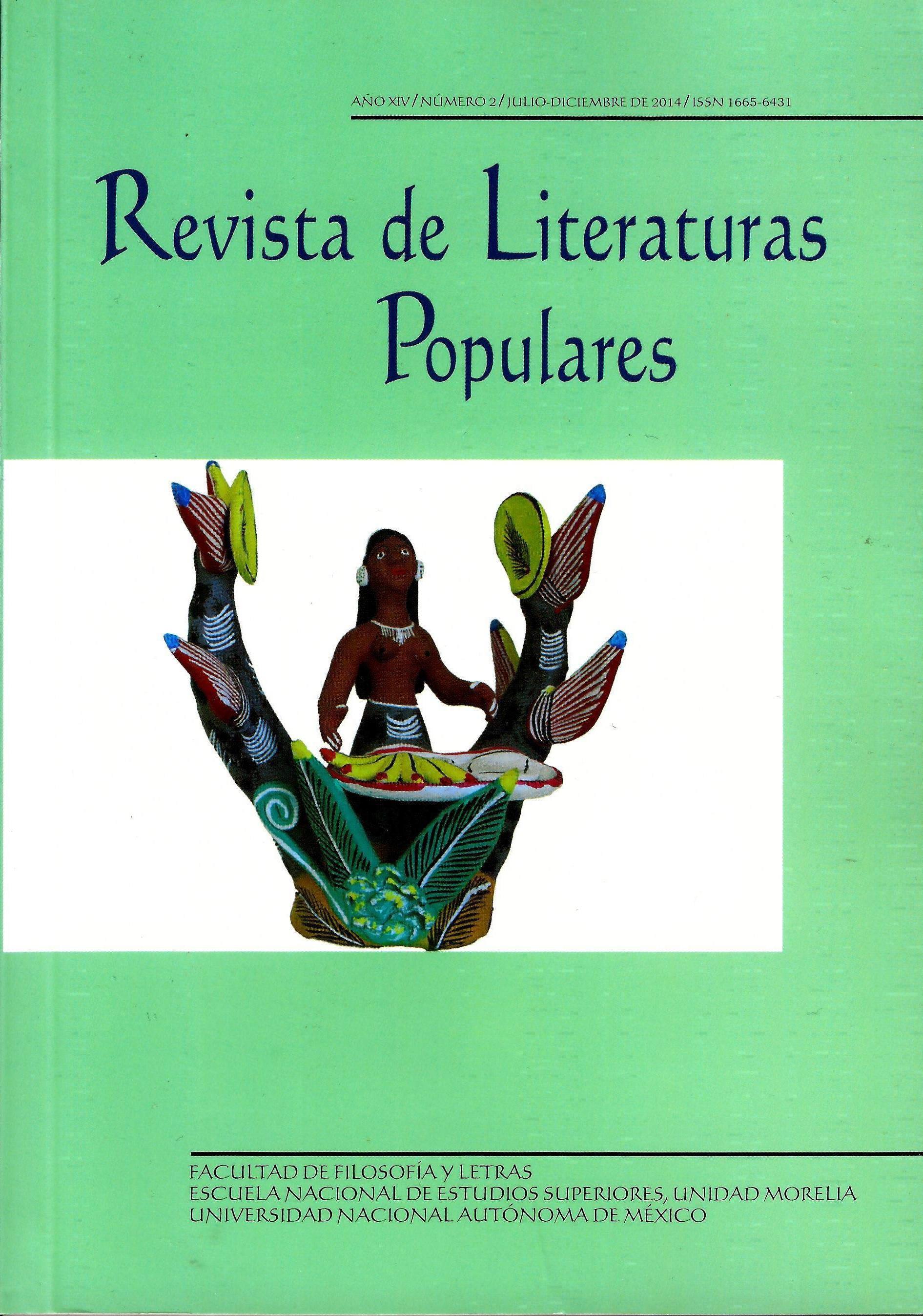 Revista de literaturas populares, año XIV número2 julio-diciembre de 2014