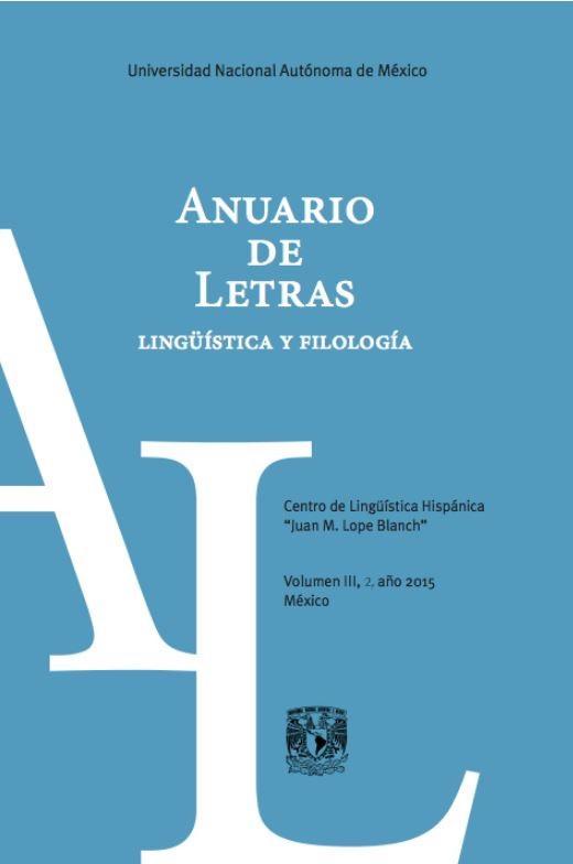 Anuario de letras lingüística y filología.vol III,2, año 2015