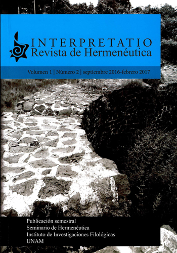 Interpretatio. Revista de hermenéutica Vol. 1, No. 2,  sep 2016-febrero 2017