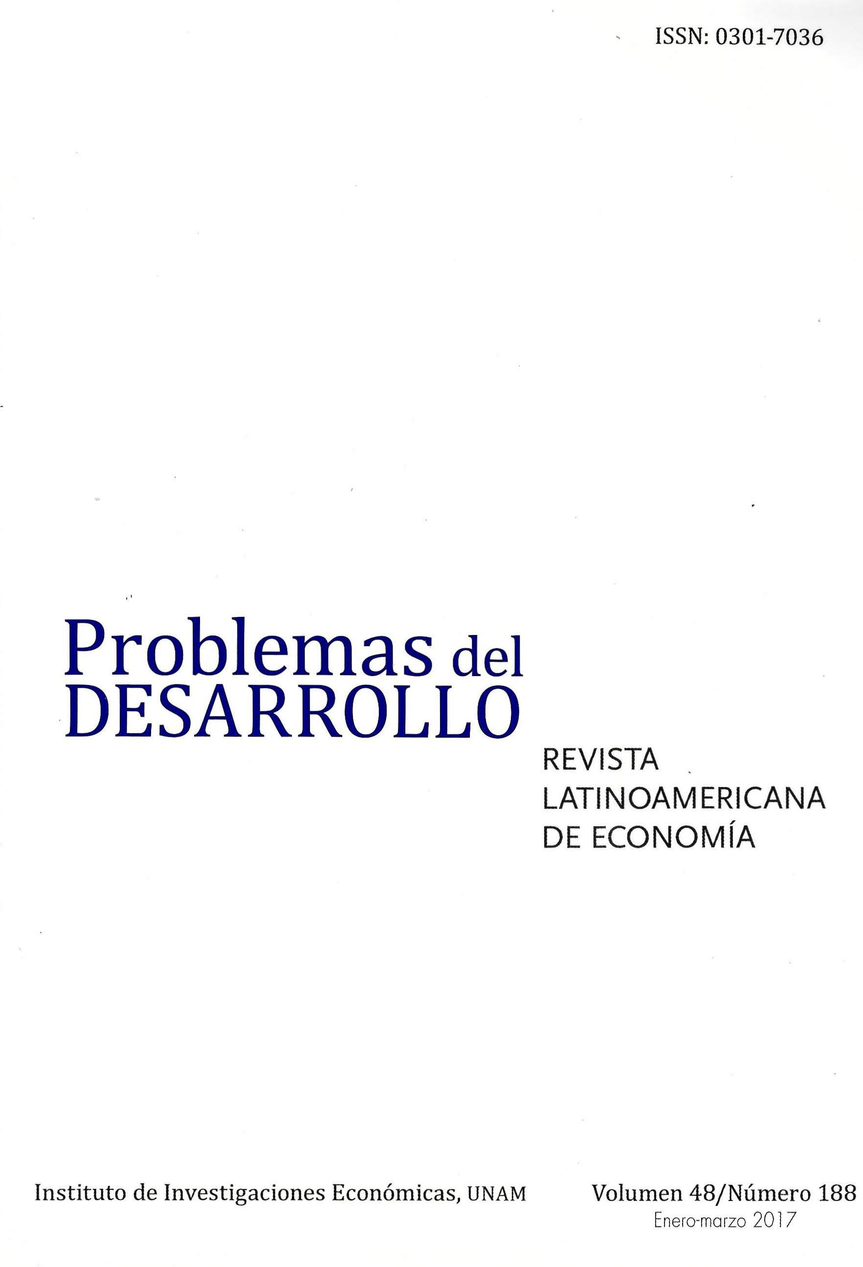 Problemas del Desarrollo. Revista latinoamericana de economía, vol. 48, núm. 188, enero-marzo de 2017