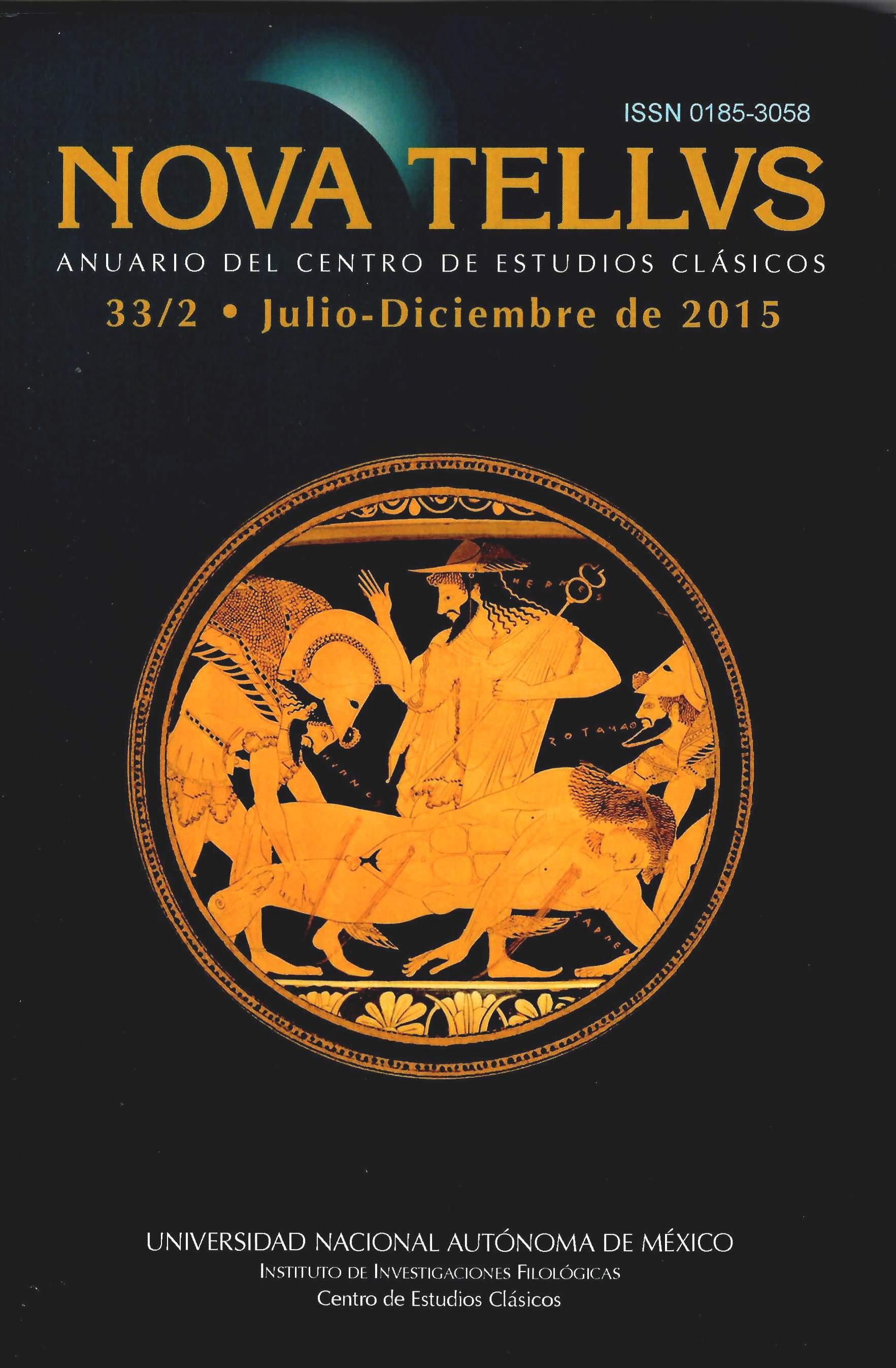 Nova Tellvs. Anuario del centro de estudios clásicos 33/2, jul-dic 2015