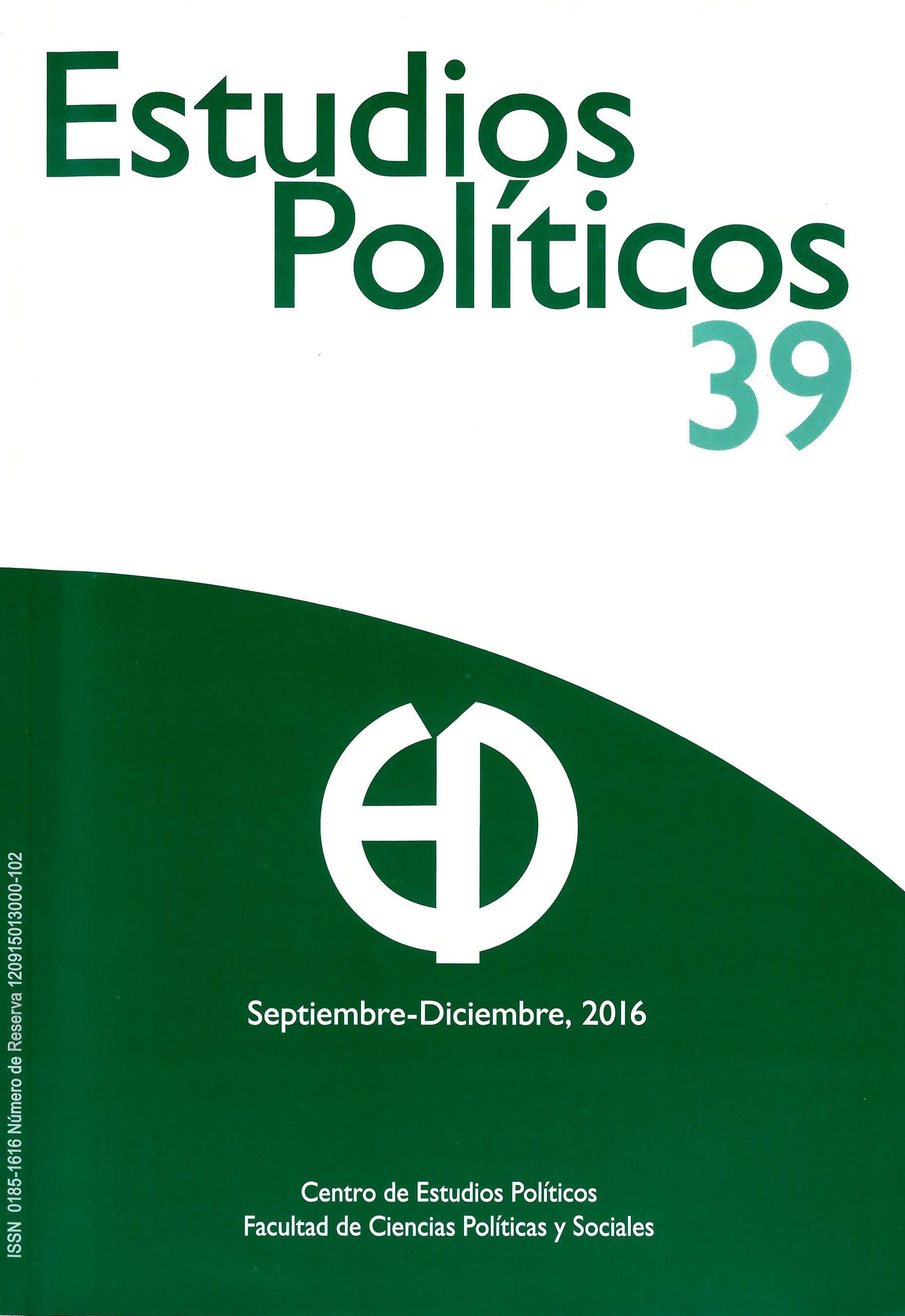 Estudios políticos, núm. 39, novena época, septiembre-diciembre 2016