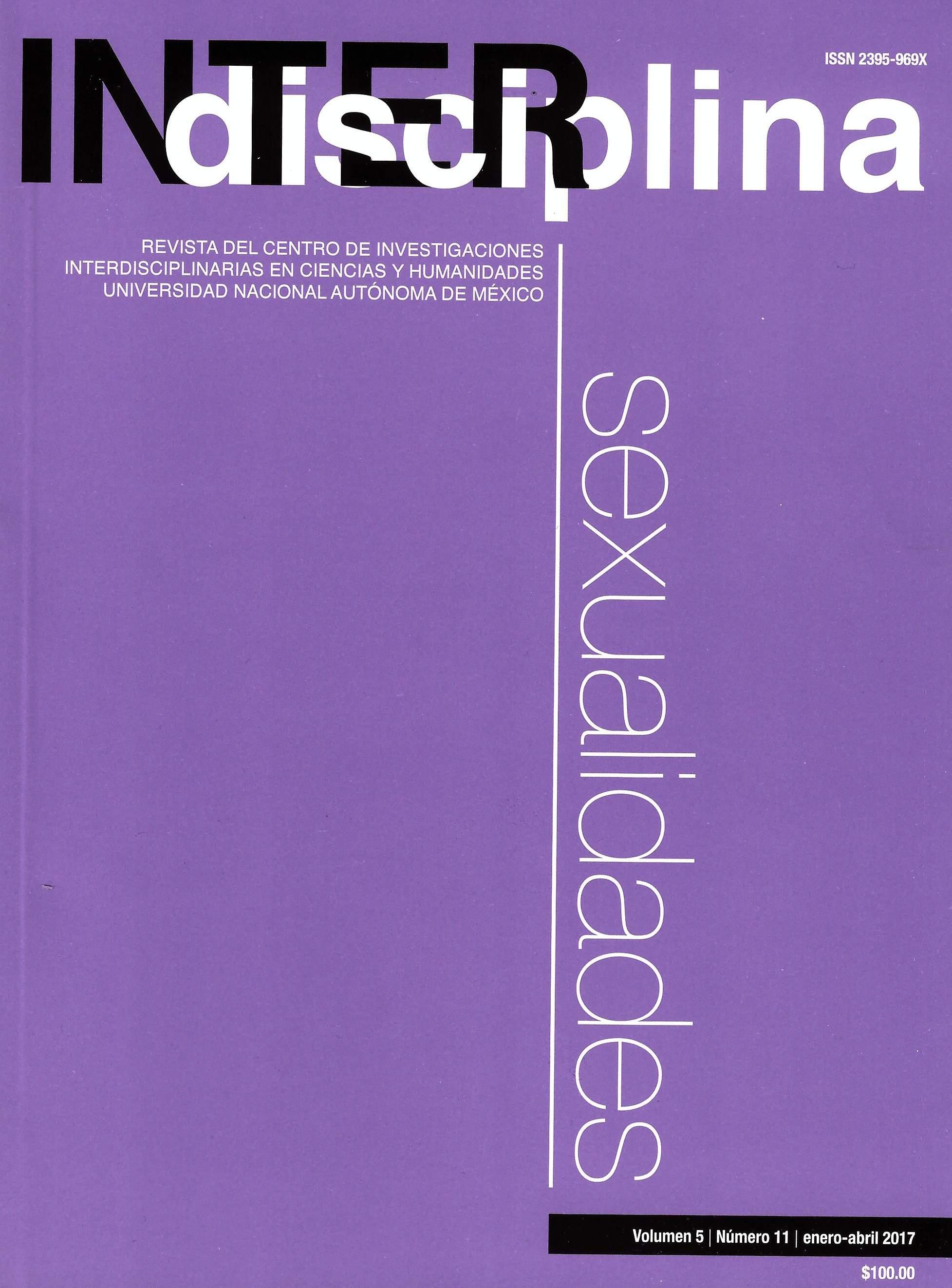 Interdisciplina, vol. 5, núm. 11, enero-abril 2017 Sexualidad