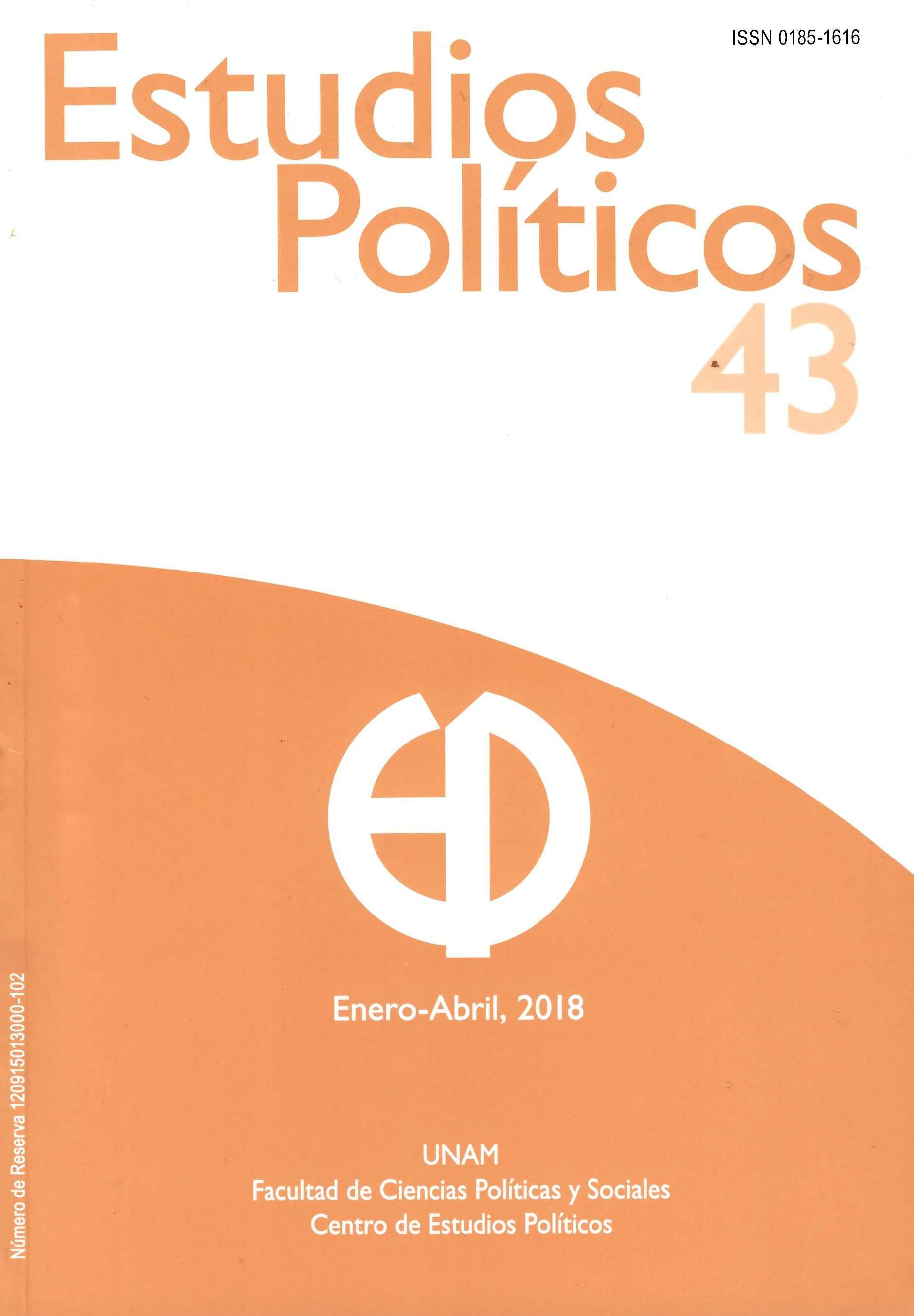 Estudios políticos 43, enero-abril, 2018