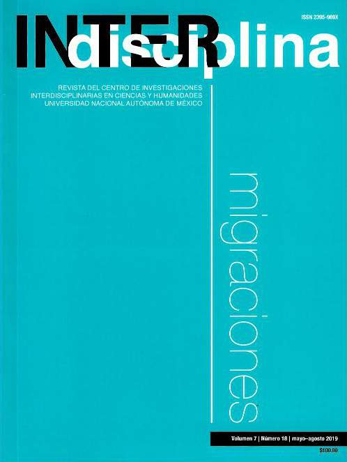 Interdisciplina,  vol. 7, núm. 18, mayo-agosto, 2019 Migraciones