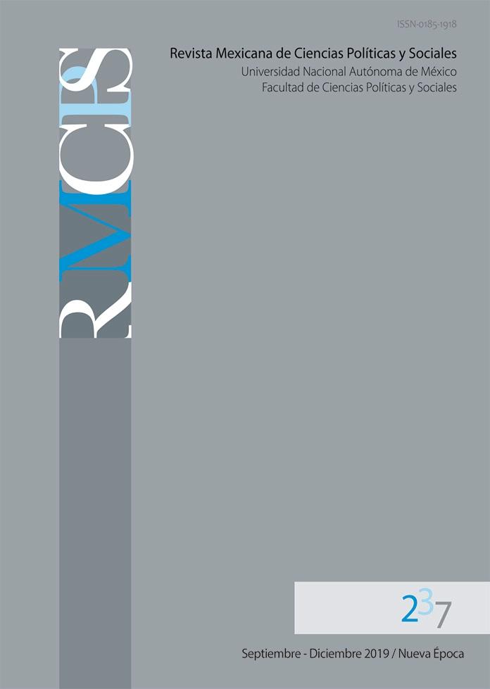 Revista Mexicana de Ciencias Políticas y Sociales. Nueva Época, año LXIV, núm. 237, septiembre-dicie