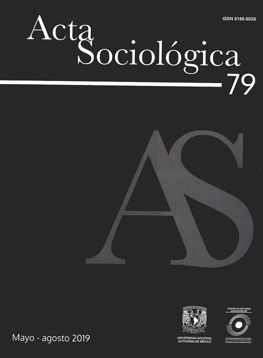 Acta Sociológica, núm. 79. Mayo-agosto, 2019