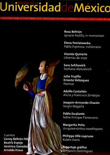 Revista de la Universidad de México, nueva época, núm. 151, sep 2016