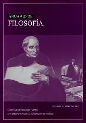 Anuario de filosofía Vol. 1 México 2007