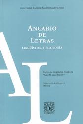 Anuario de letras lingüística y filología, vol. 1, núm 1
