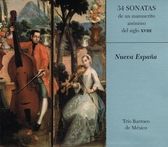 34 sonatas de manuscrito anónimo del siglo XVIII Nueva España