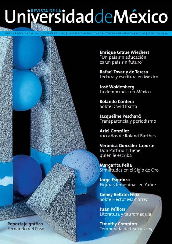 Revista de la Universidad de México, nueva época, número 142, diciembre 2015