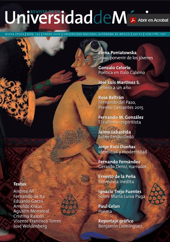 Revista de la Universidad de México, nueva época, número 143, enero 2016