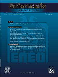 Enfermería universitaria, vol.12, número 4, octubre-diciembre 2015.