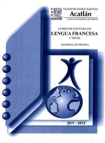 Curso de lectura en lengua francesa. 1er nivel. Material de prueba