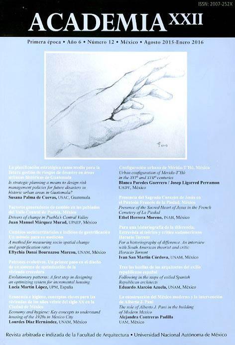 Academia XXII, Año 6, núm. 12 (agosto 2015-enero 2016)