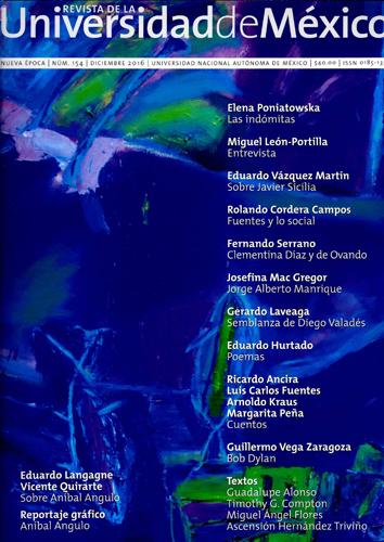 Revista de la Universidad de México Nueva época, núm. 154, dic, 2016