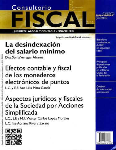 Consultorio fiscal jurídico laboral y contable-financiero Núm. 640, 2a quincena de abril 2016