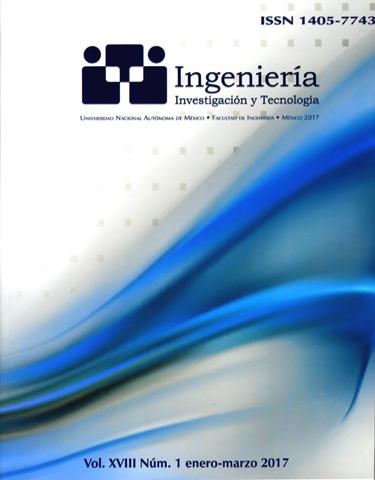 Revista ingeniería, investigación y tecnología, vol. XVIII, núm. 1, ene-mar, 2017