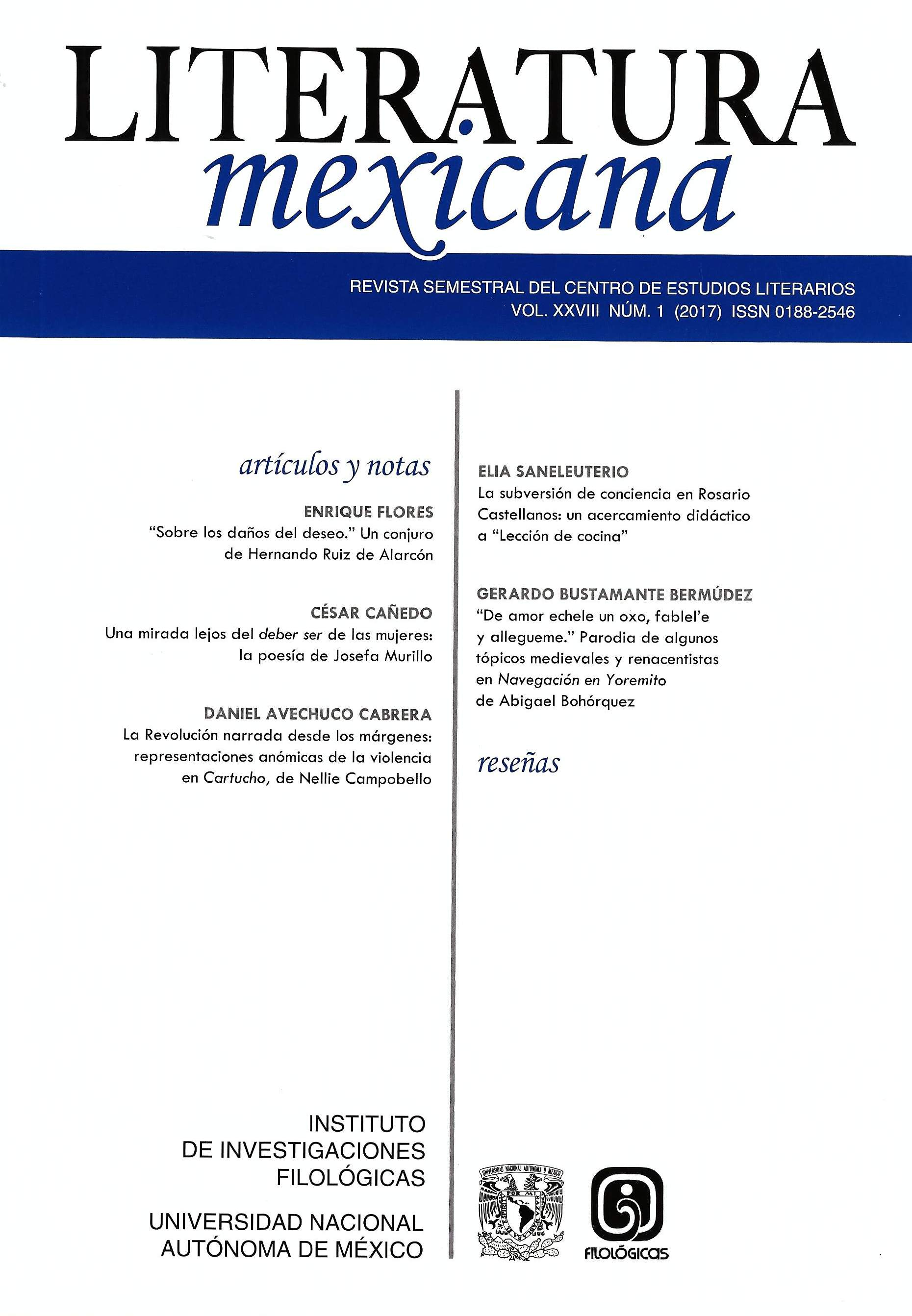 Literatura mexicana, vol. XXVIII, núm. 1 (2017)