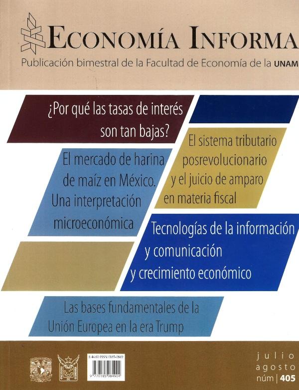 Economía informa, núm. 405, julio-agosto, 2017