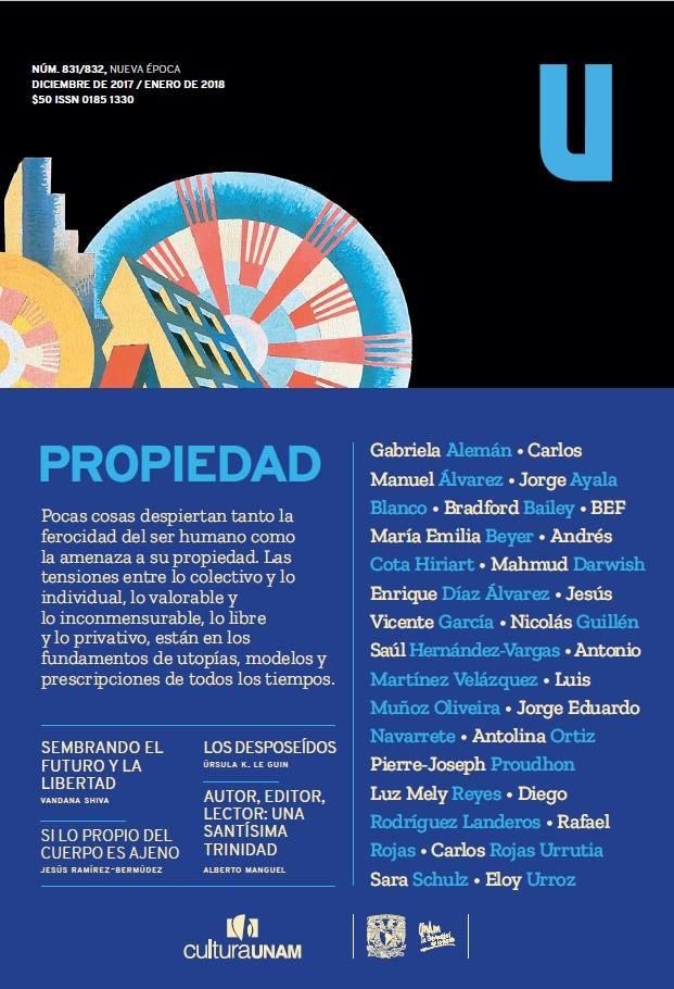 Revista de la Universidad de México, núm. 831/832. Nueva época, diciembre 2017- enero 2018
