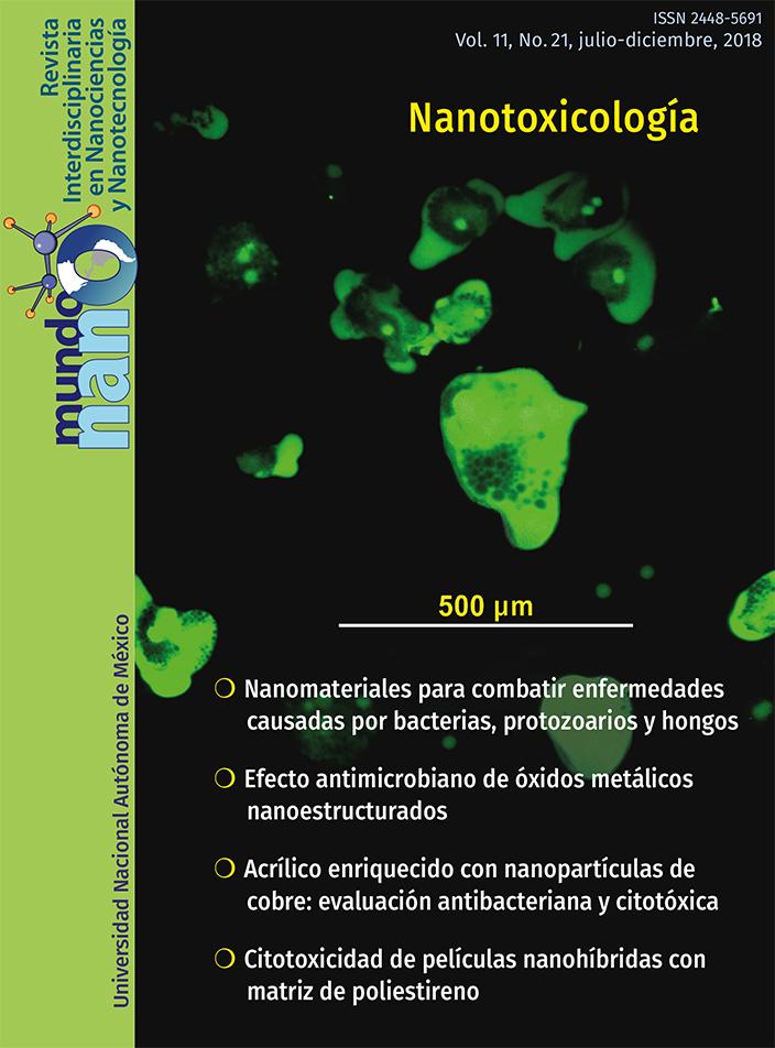 Mundo nano. Revista interdisciplinaria en nanociencias y nanotecnología, vol. 11, no. 21, julio-diciembre, 2018