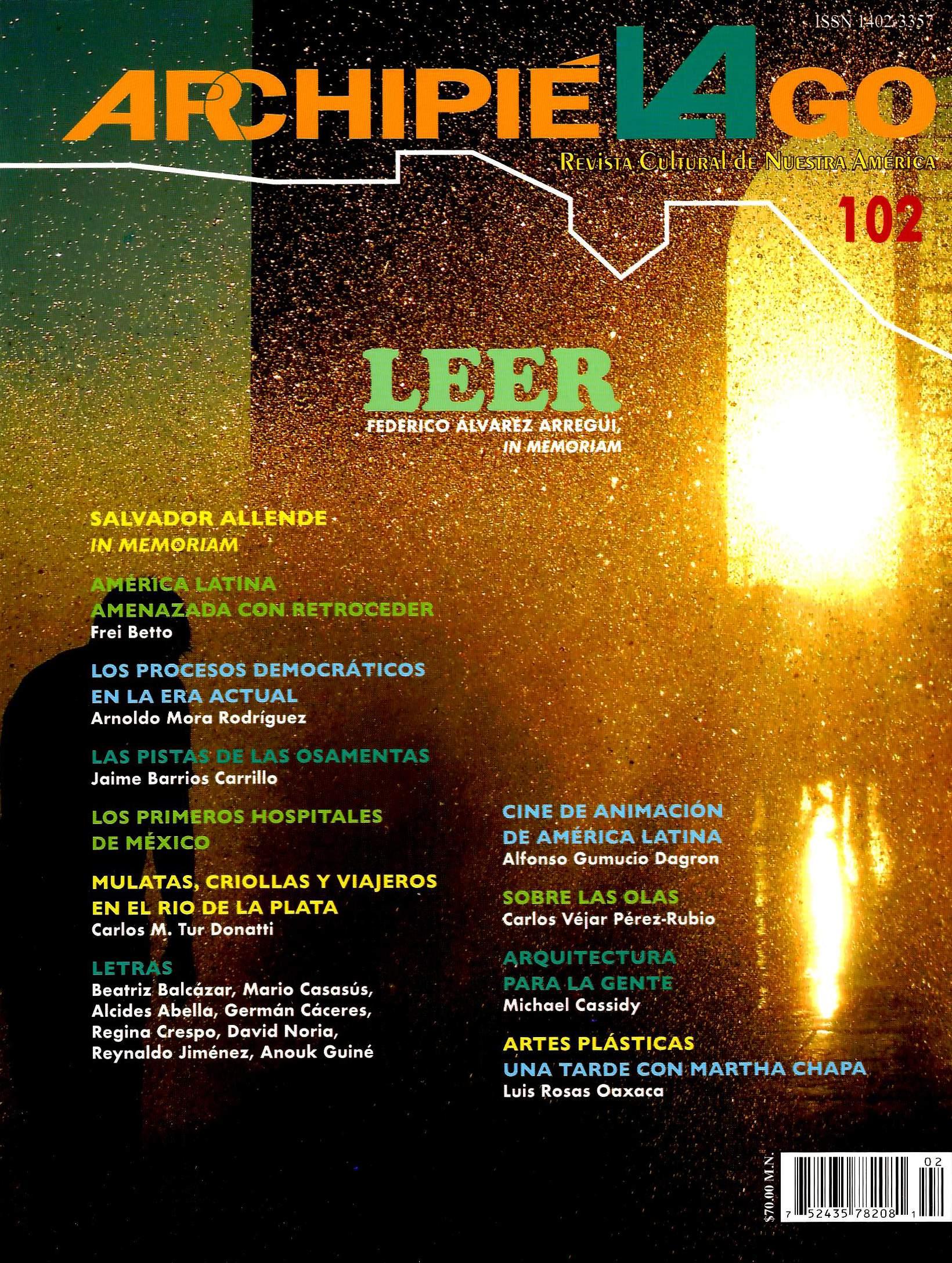 Archipiélago. Revista Cultural de Nuestra América, núm. 102, octubre-diciembre, 2018