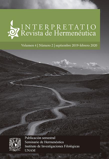 Interpretatio. Revista de Hermenéutica, vol. 4, núm. 1, marzo-agosto de 2019
