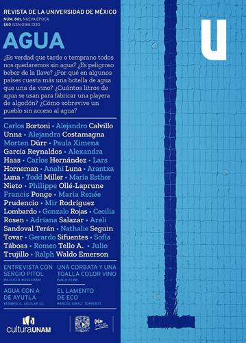 Revista de la Universidad de México, núm. 861, Nueva Época, junio de 2020 Agua