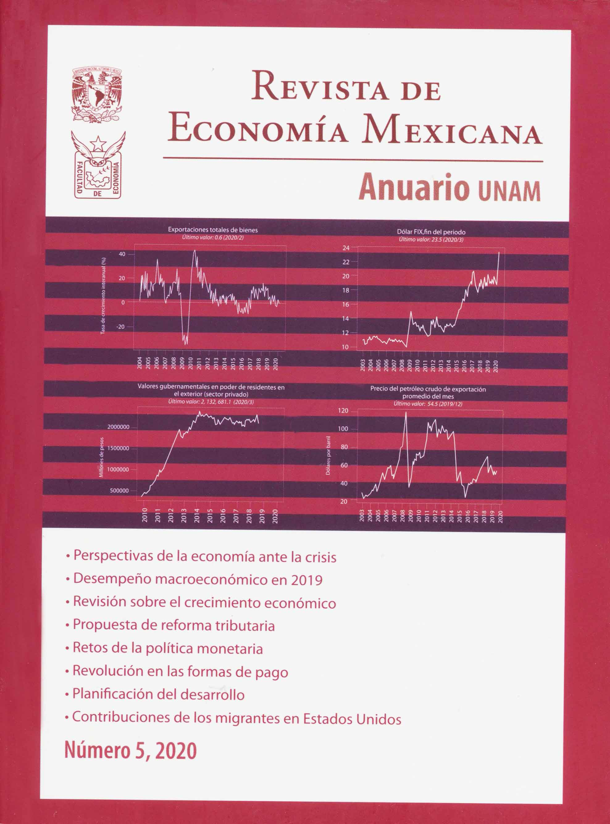 Revista de economía mexicana. Anuario UNAM, Núm. 5, 2020