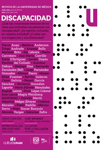 Revista de la Universidad de México, núm. 866, Nueva Época, noviembre de 2020 Discapacidad