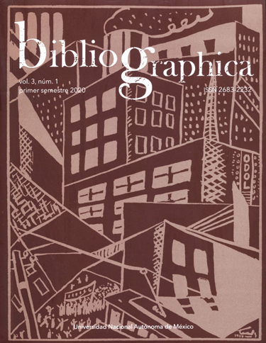 Bibliographica, vol.3, núm. 1, primer semestre 2020
