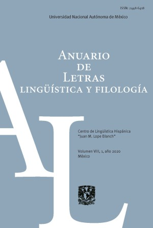 Anuario de Letras. Lingüística y Filología 8-1