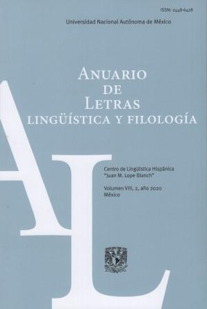 Anuario de Letras. Lingüística y Filología 8-2