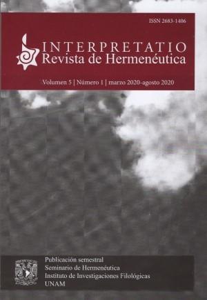 Interpretatio. Revista de Hermenéutica 5-1