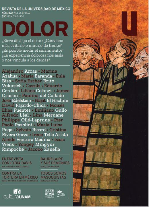 Revista de la Universidad de México, núm. 872, Nueva Época, mayo  de 2021 DOLOR