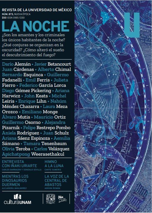 Revista de la Universidad de México, núm. 873, Nueva Época, junio  de 2021. La noche