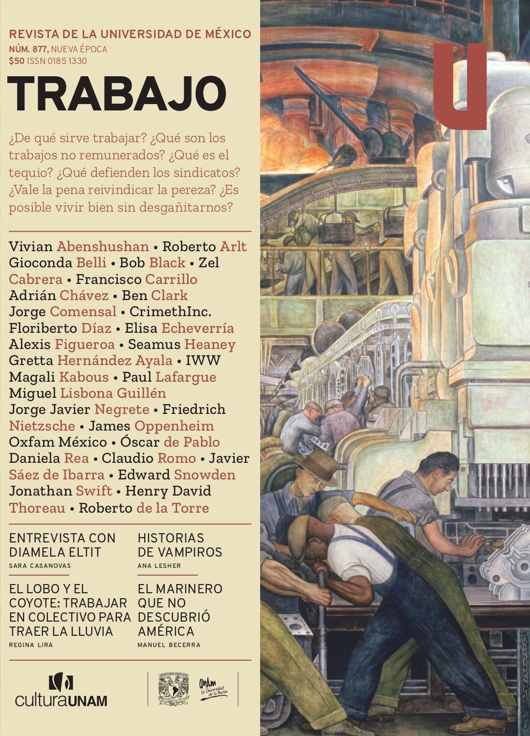 Revista de la Universidad de México, núm. 877, Nueva época, octubre 2021. Trabajo
