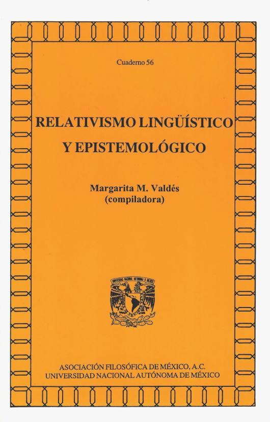 Relativismo lingüístico y epistemológico
