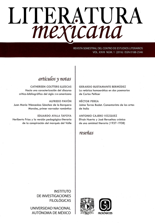 Literatura mexicana, vol. XXVII, núm. 1 (2016)