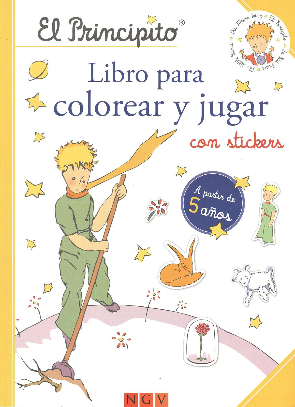 El principito. Libro para colorear y jugar con stickers