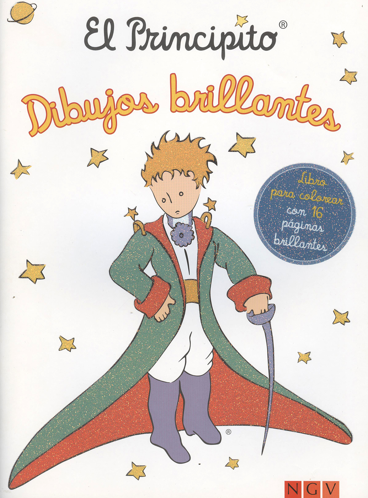 El principito: dibujos brillantes (libro para colorear)