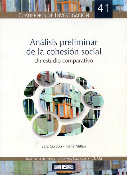 Análisis preliminar de la cohesión social. Un estudio comparativo