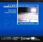 Modus XXI. Generador melódico atonal v. 1.0