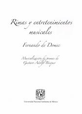 Rimas y entretenimientos musicales. Musicalización de poemas de Gustavo Adolfo Bécquer Domec