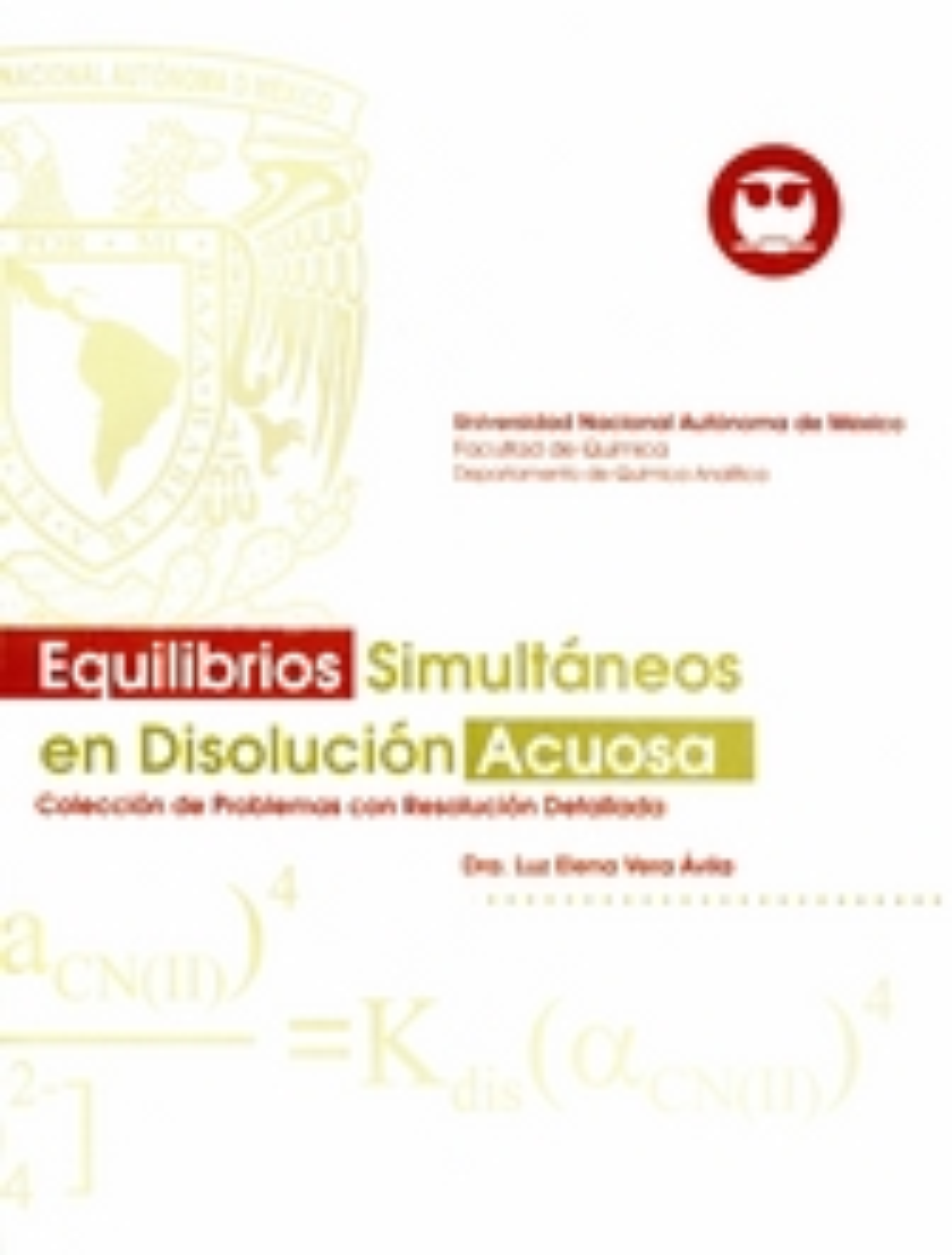 Equilibrios simultáneos en disolución acuosa. Colección de problemas con resolución detallada