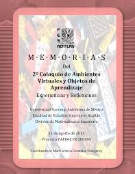 Memorias del 2do. Coloquio de Ambientes Virtuales y Objetos