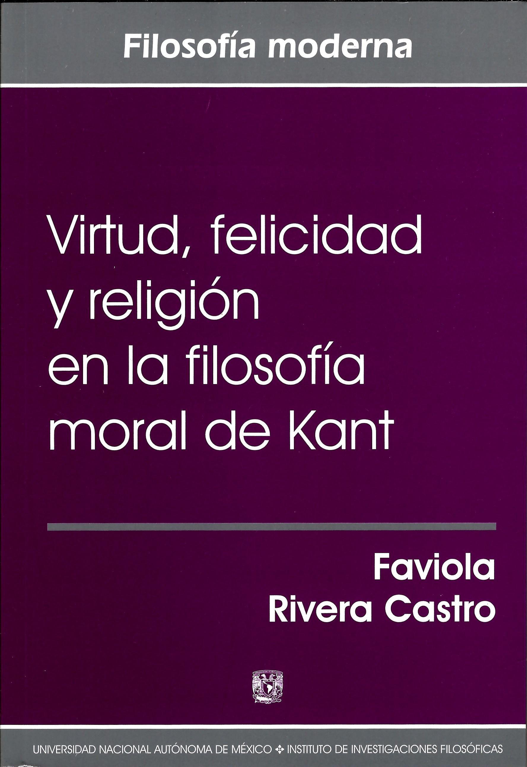 Virtud, felicidad y religión en la filosofía moral de Kant