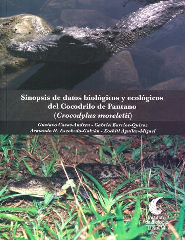 Sinopsis de datos biológicos y ecológicos del cocodrilo de pantano. Crocodylus moreletii